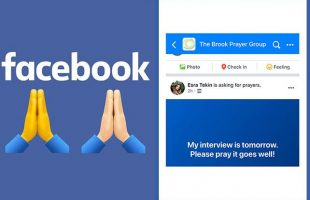To entice the faithful, Facebook has included a prayer tool in groups